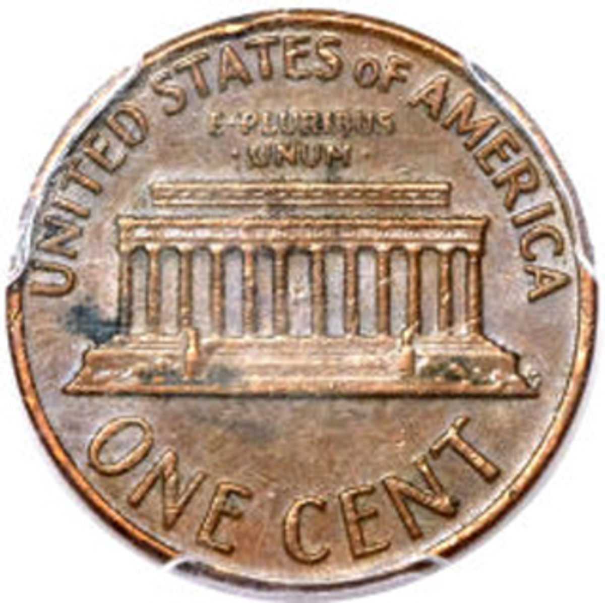 Reverse of Bill Gaitan's AU-55 1969-S double die cent.