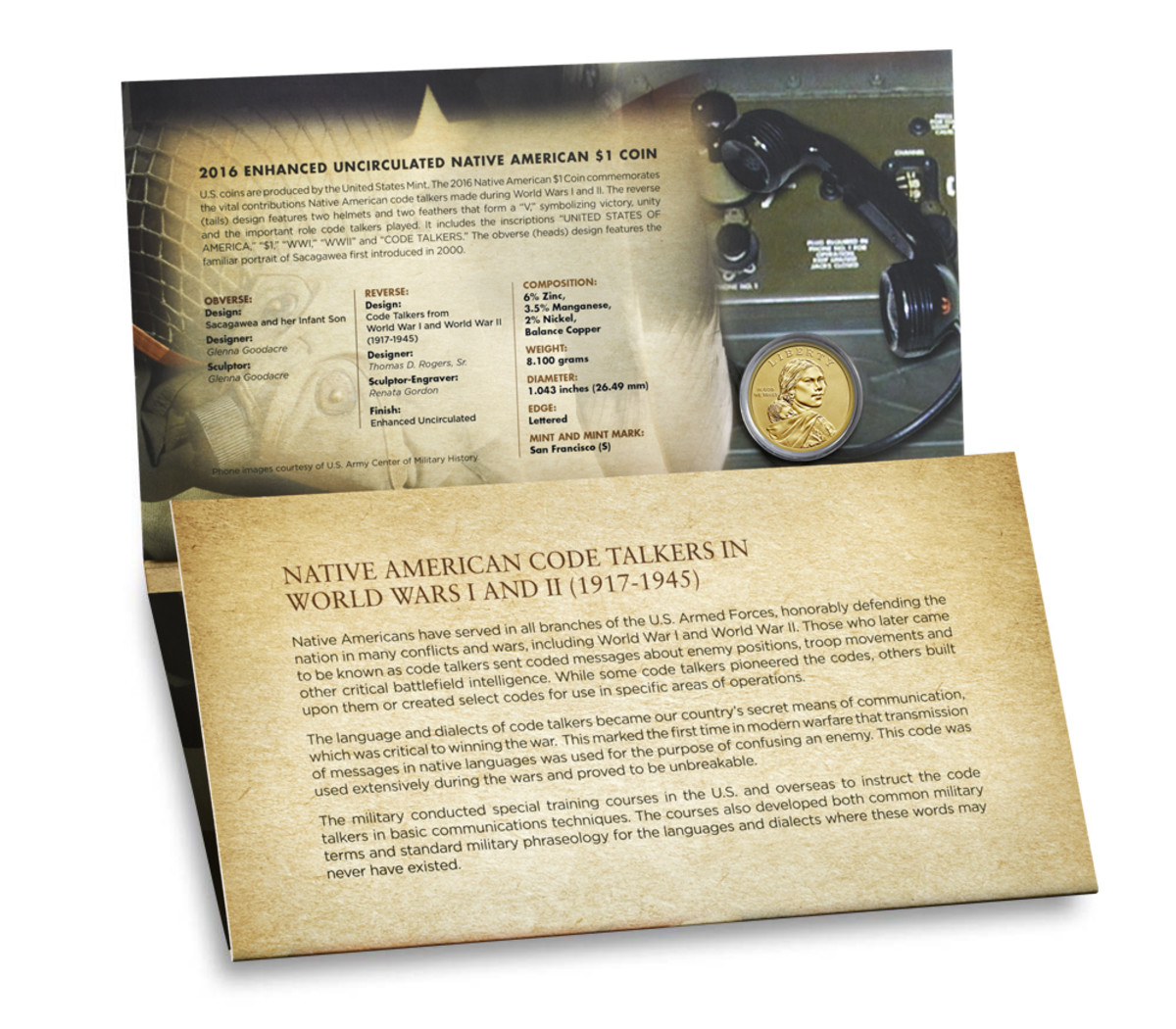 Historical information on World War 1 and 2 Code Talkers is also included on the set.