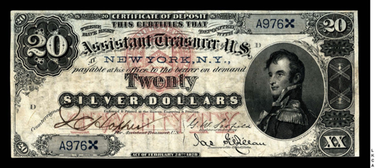 This $20 rarity is signed by J.C. Hopper and has been off the market for 45 years.