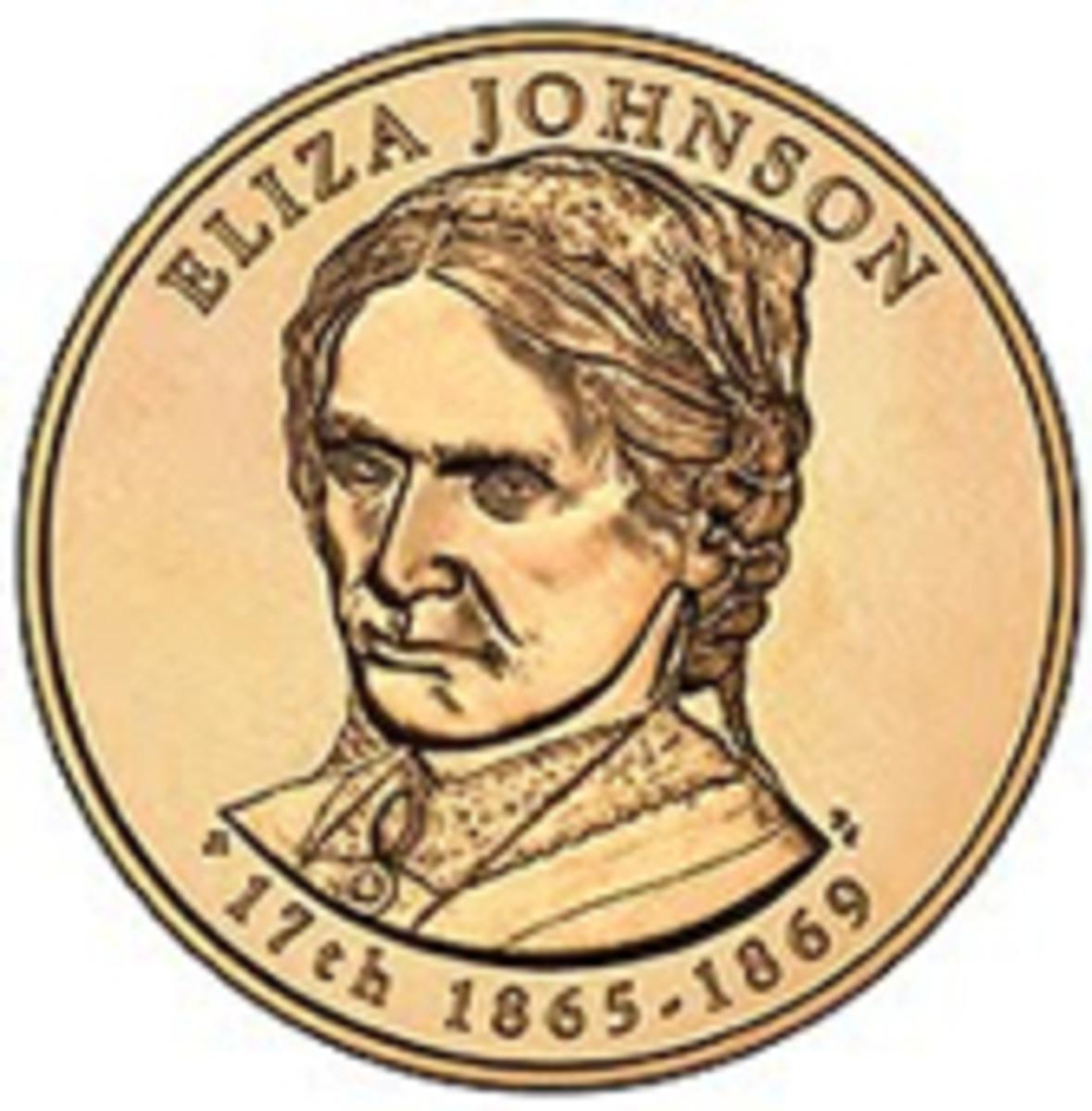 Eliza Johnson first spouse coin