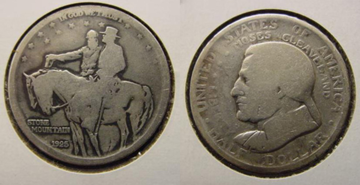 NN05, left, and NN06 are Stone Mountain and Cleveland commemorative half dollars, respectively.