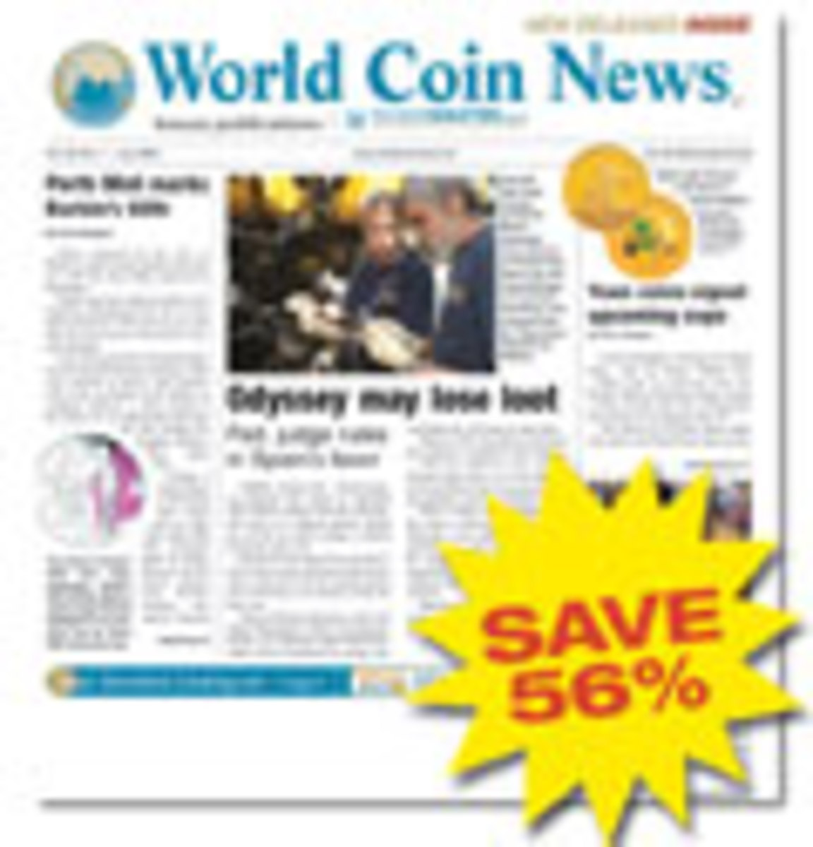 World Coin News Magazine One Year Subscription