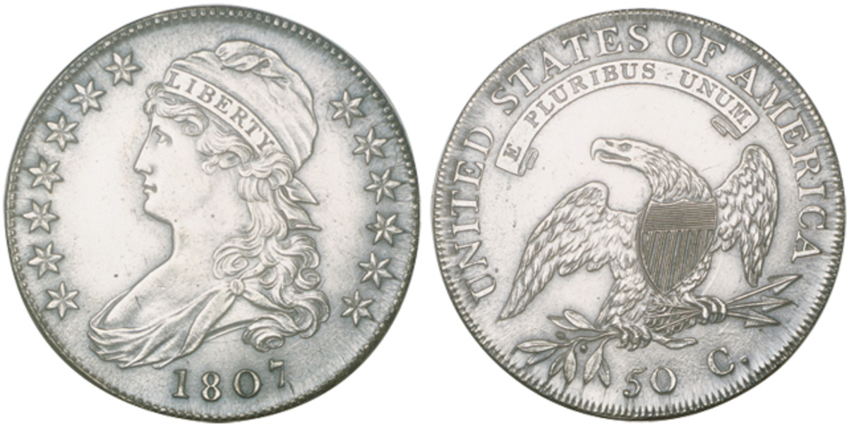 Under FTC regulations, Draped Bust halves along with a number of other U.S. coins can not be considered coin silver.
