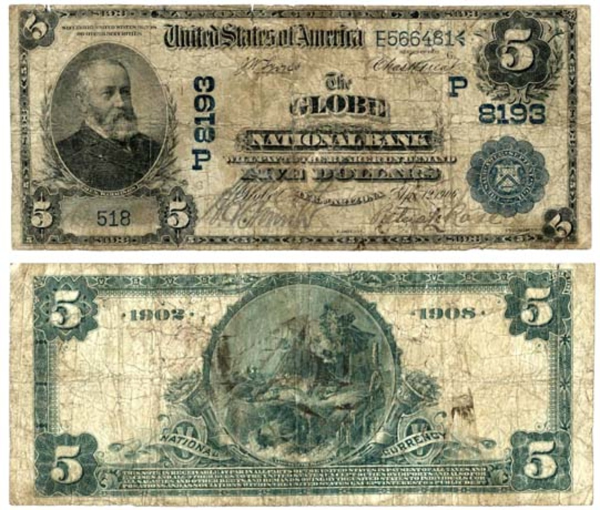 Sensational first reported $5 1902 date back from the Territory of Arizona.