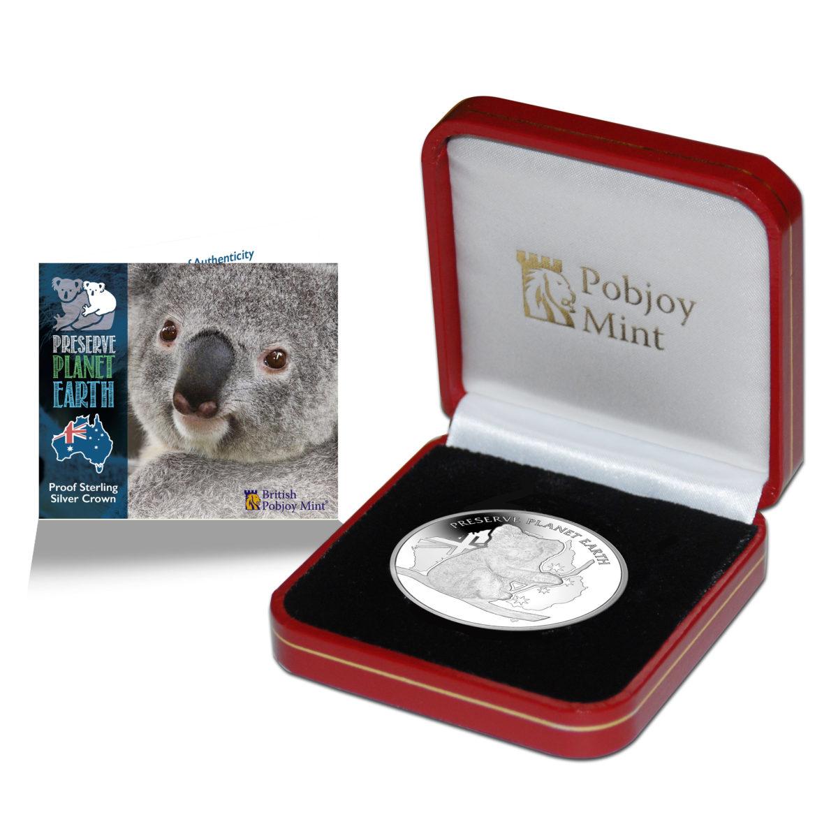 Niue 20 Koala Silver with Box and COA