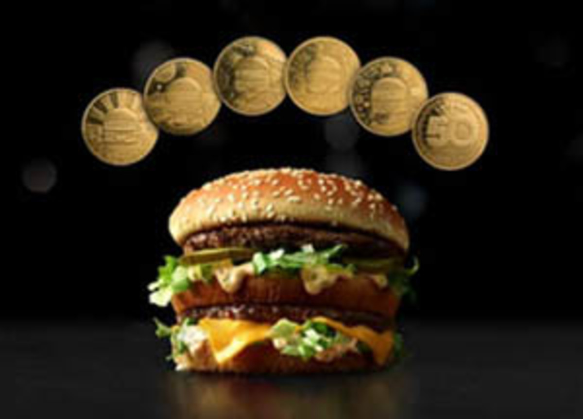 Five designs of MacCoins marking the 50th anniversary of the Big Mac have been announced by the McDonalds's corporation.(Image courtesy http://news.mcdonalds.com/node/5806)