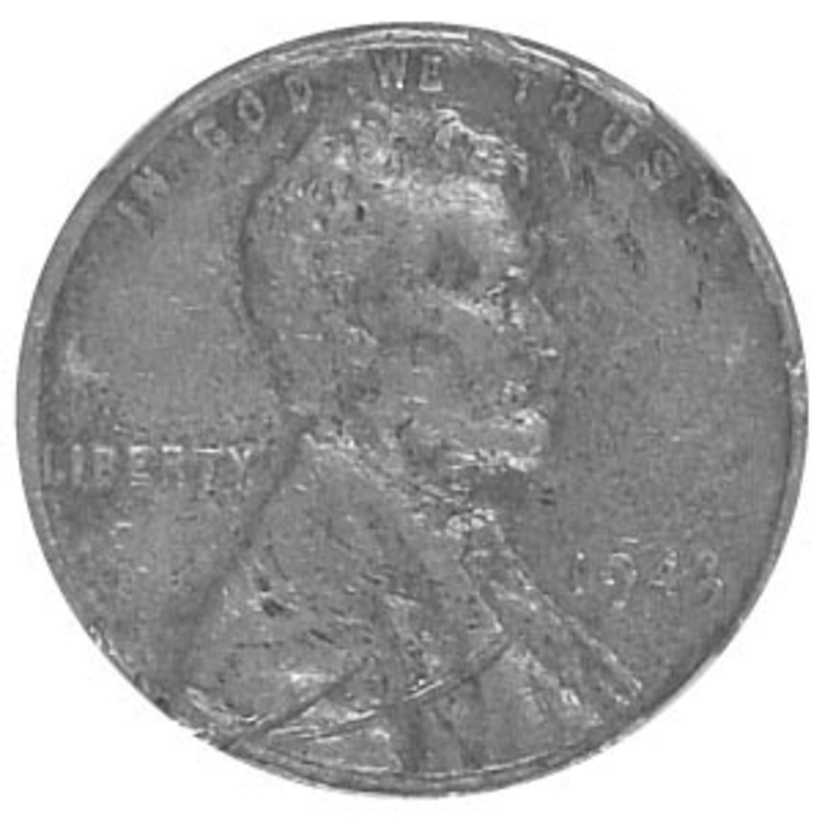 1943 tin alloy Lincoln cent