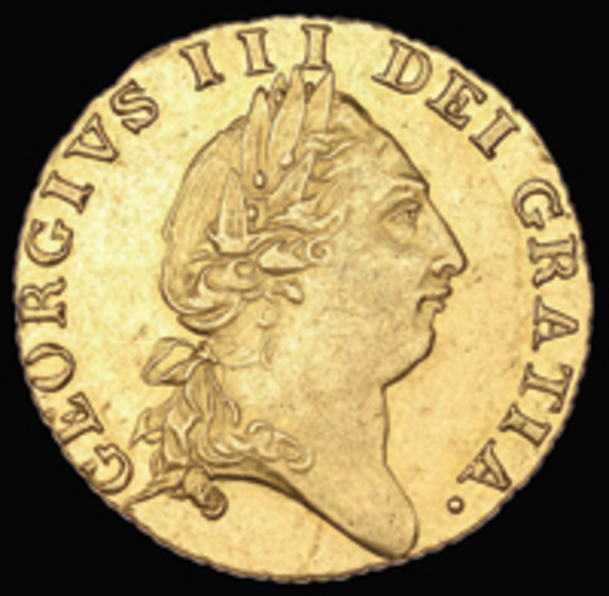 Discovery George III spade guinea of 1788 (cf. KM-609; S-3279) to be offered in EF at DNW's September sale. (Image courtesy DNW)