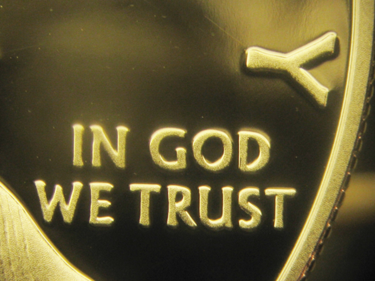 """Genuine proof silver Eagle's """"IN GOD WE TRUST"""" and """"Y"""" of """"LIBERTY."""""""