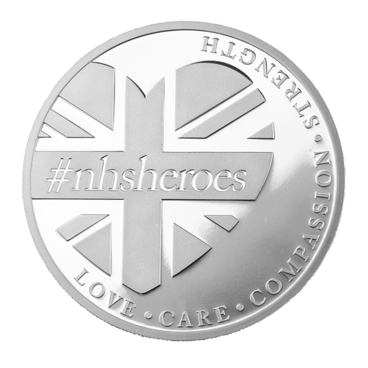 """One-hundred percent of the profit from the sales of the """"NHS Heroes"""" silver coin will benefit the NHS Charities Together Coronavirus Appeal. (The East India Company Bullion Ltd.)"""