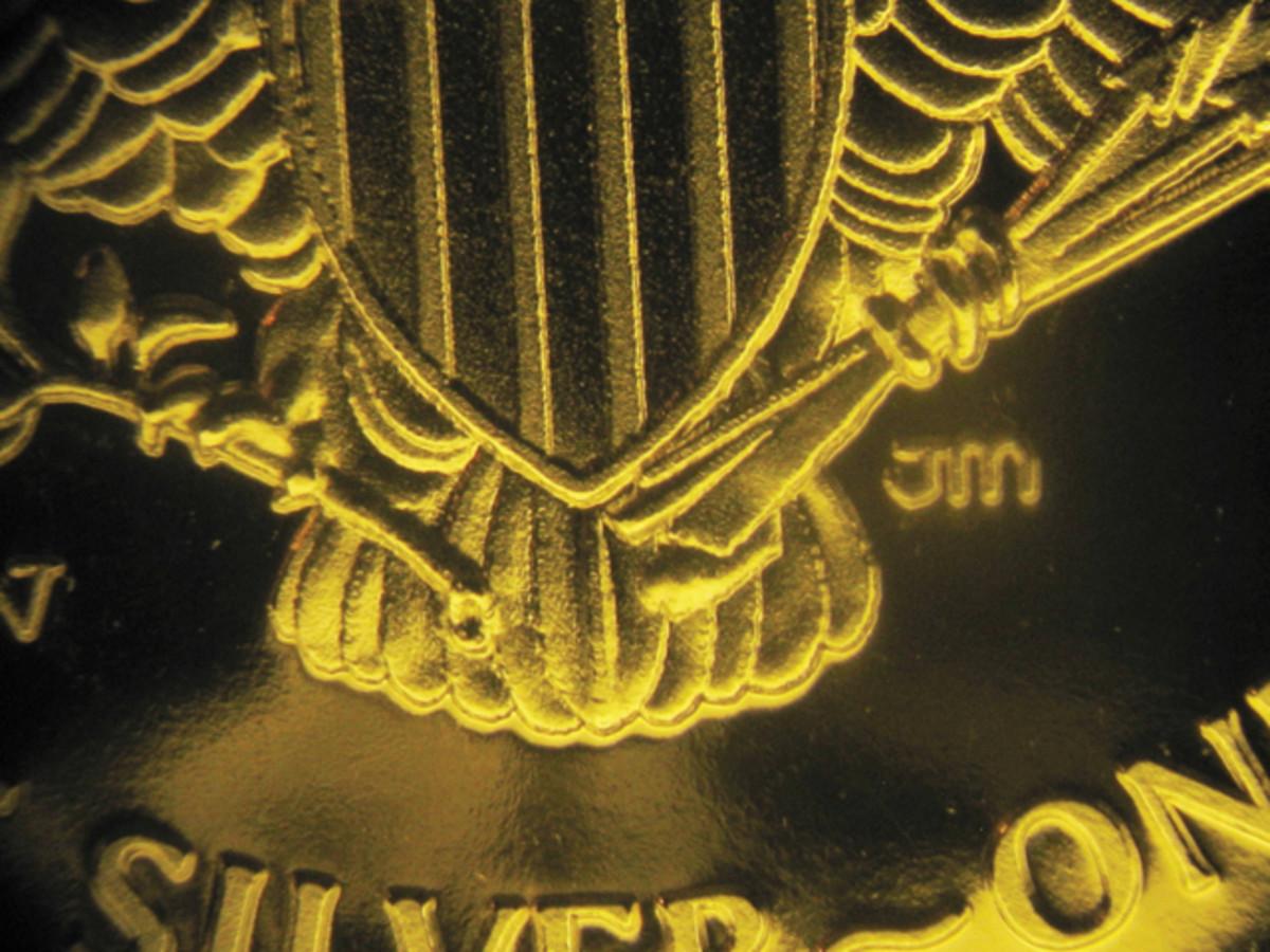 Fake proof silver Eagle's eagle and shield.