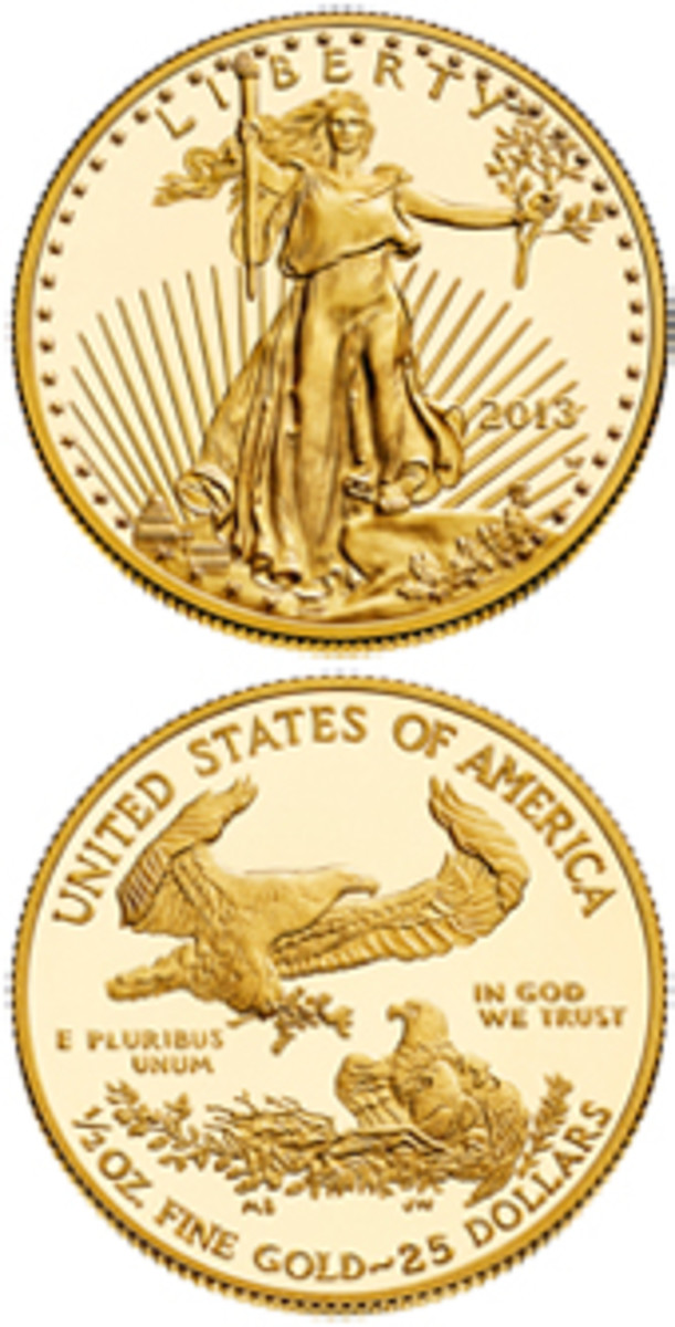 Half ounce proof gold American Eagle