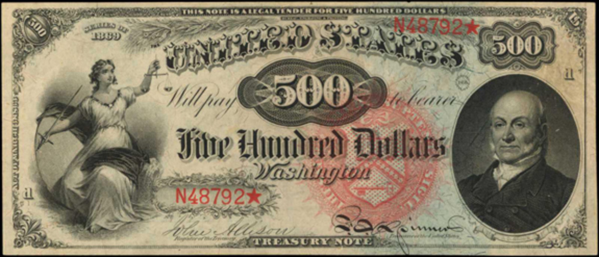 1869 $500 Legal Tender Note, PCGS Currency Choice About New 55 PPQ. (Image courtesy Stack's Bowers)