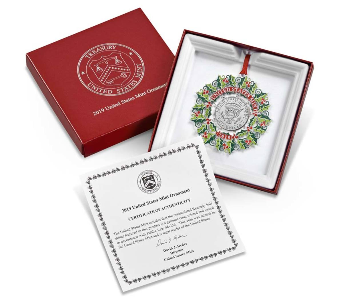 US Mint Ornament packaging