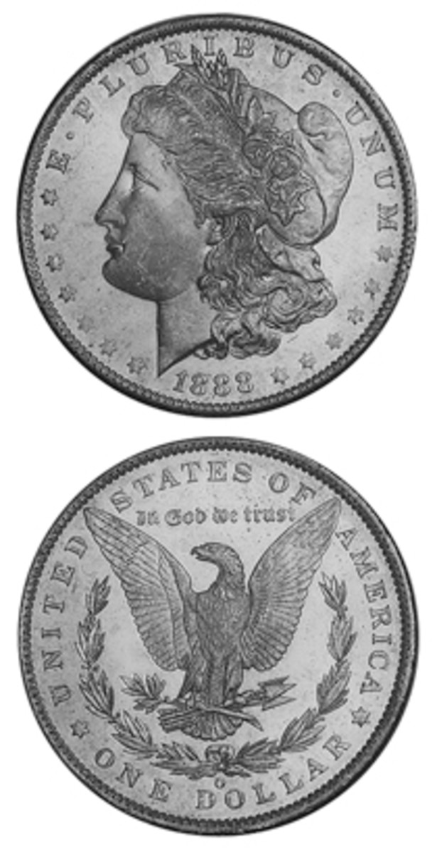 Debuting in 1854, the gold $3 was struck at Philadelphia, New Orleans, and Dahlonega. Today, tracking down Mint State examples of the 1854-O (shown above) can be a difficult task.