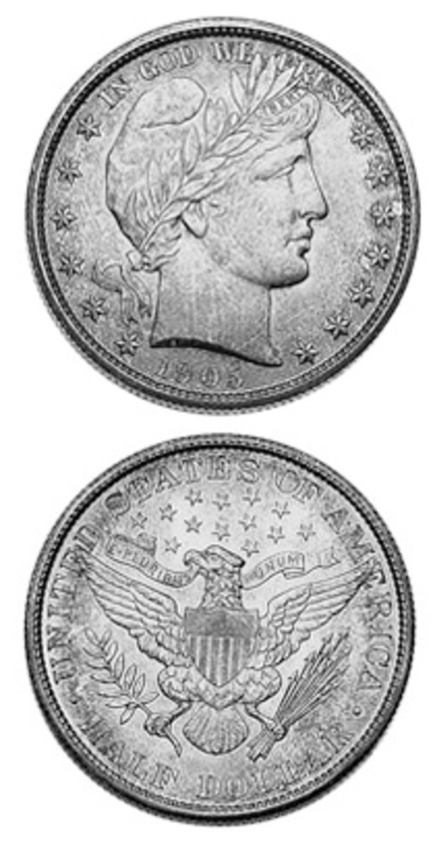 Low demand keeps prices down for the 1905 Barber half dollar, especially for proof examples, which are actually easier to find than high-grade Mint State examples.