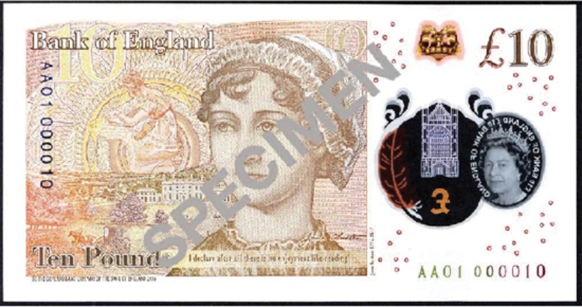 Top selling BoE £10 note number AA01 000010 that fetched $9,504.