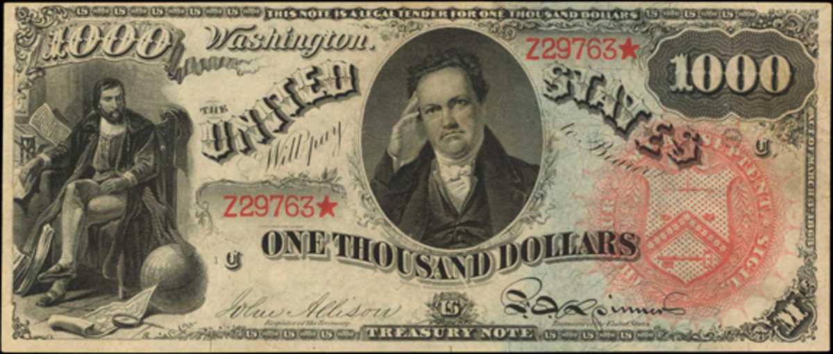 1869 $1000 Legal Tender Note, PCGS Currency About New 53. (Image courtesy Stack's Bowers)