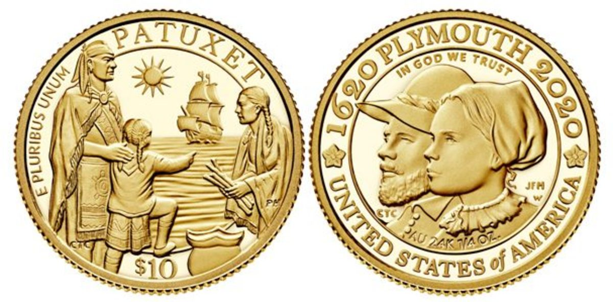 The two gold products on sale Nov. 17 are the two-coin gold proof set and the gold reverse proof coin. (All images courtesy United States Mint)