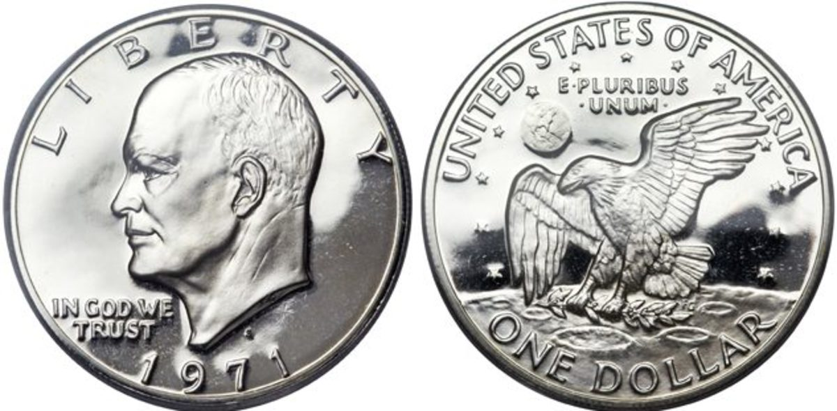 A 1971-S Eisenhower dollar, PCGS-graded PR-70 Deep Cameo. (Images courtesy Heritage Auctions)