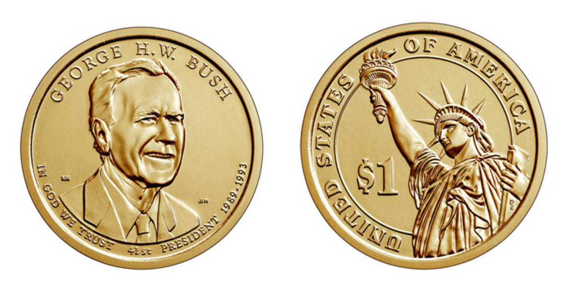 On Dec. 4, the U.S. Mint will roll out its Presidential products honoring the life and achievements of George H.W. Bush.(All images courtesy U.S. Mint)