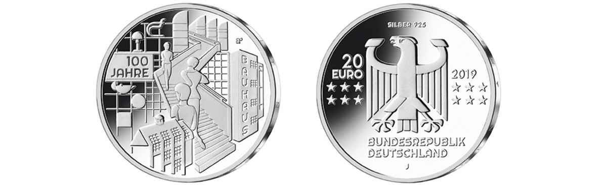 "When architect Walter Gropius founded the ""Bauhaus"" in April 1919, design embarked on a new world experience. Art and craft combined at the academy to bring the simplest aspects of our lives a sense of style they never had before. This coin pays homage to that dawning of the Bauhaus and its influence."