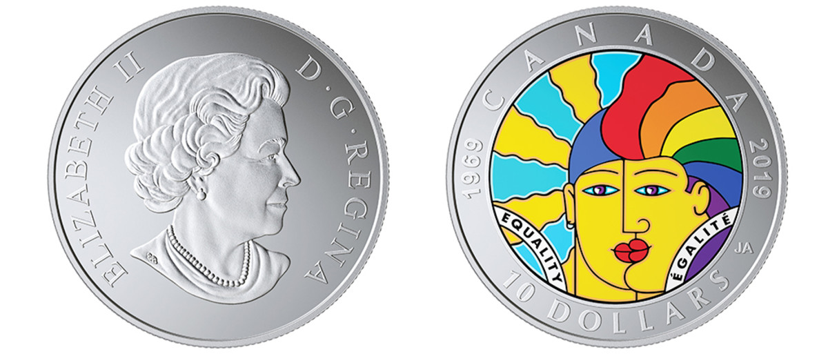 You will find coins of diversity, equality and inclusion scattered throughout this year's 100 COTY nominations. We are quite pleased to see these themes branching out from their traditional forum in the Most Inspirational Coin category. With this 50 Years of Progress in Advancing LGBTQ2 Rights coin, Canada has provided a focal point for discussion. Not only does this appropriately colorful rainbow coin honor past progress, it also goes a long way towards motivating advancement for the future.
