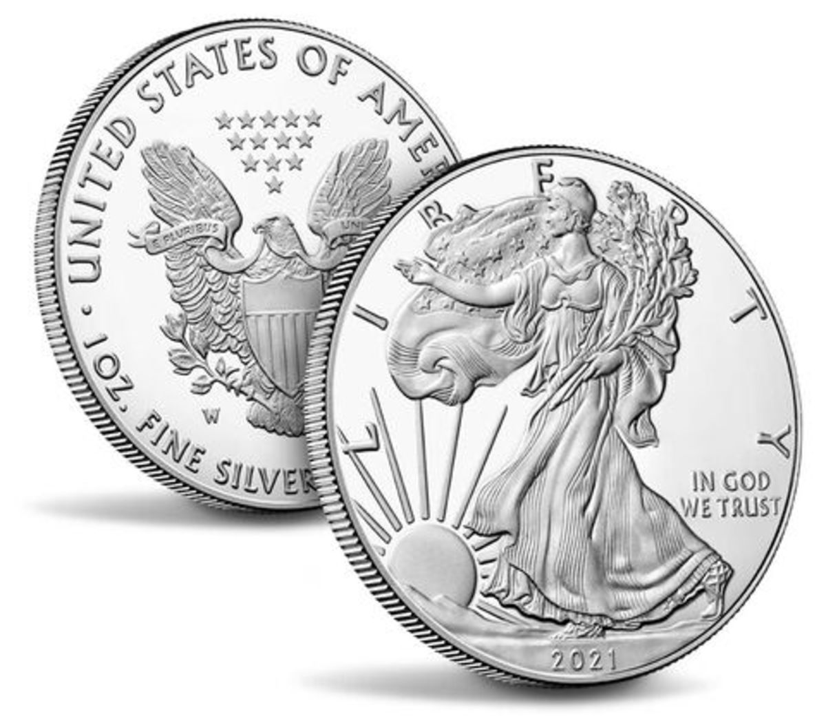 The 2021 silver proof American Eagle proof will be released Jan. 7. (Images courtesy U.S. Mint.)