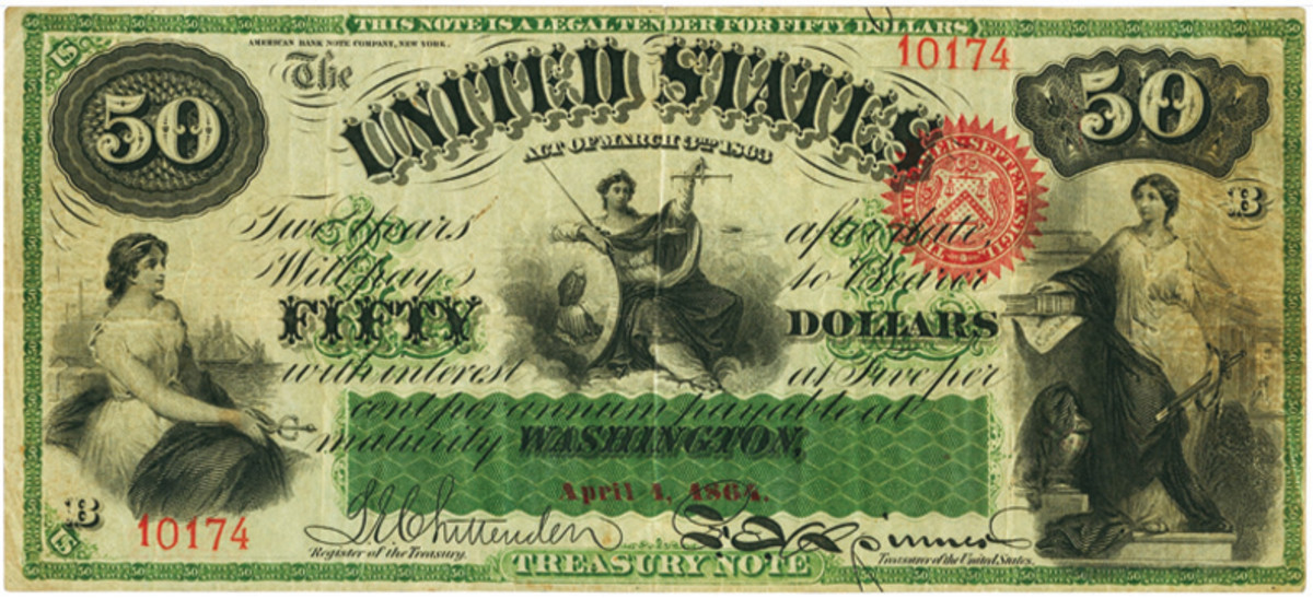 $50 Act of March 3, 1863 Two-Year 5% Interest Bearing Note.