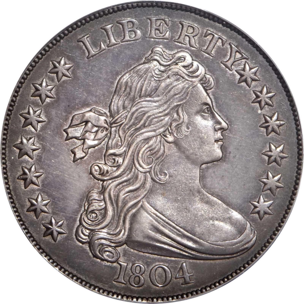 The most valuable U.S. rare coin sold at auction in 2020 was this 1804-dated silver dollar for $3,360,000. Photo courtesy of Stack's Bowers Galleries.
