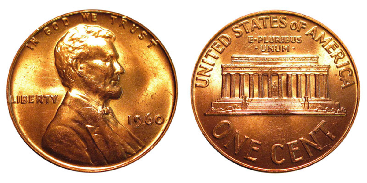 Today's collectors don't see the same potential in the 1960 small date cent as those who saved them when they were first issued. (Images courtesy usacoinbook.com)