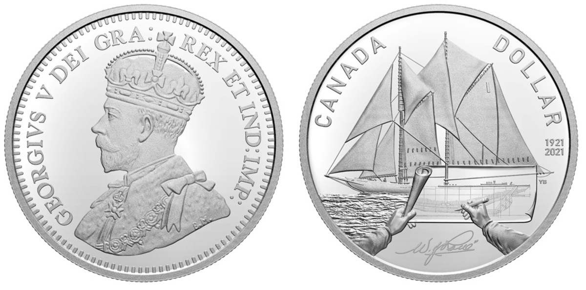 This is the first issue of the 100thAnniversary of Bluenose celebratory coinage, available now at $55. Watch for more to come as 2021 progresses.