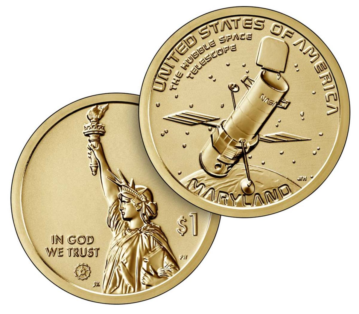 American Innovation reverse proof dollar for the state of Maryland.