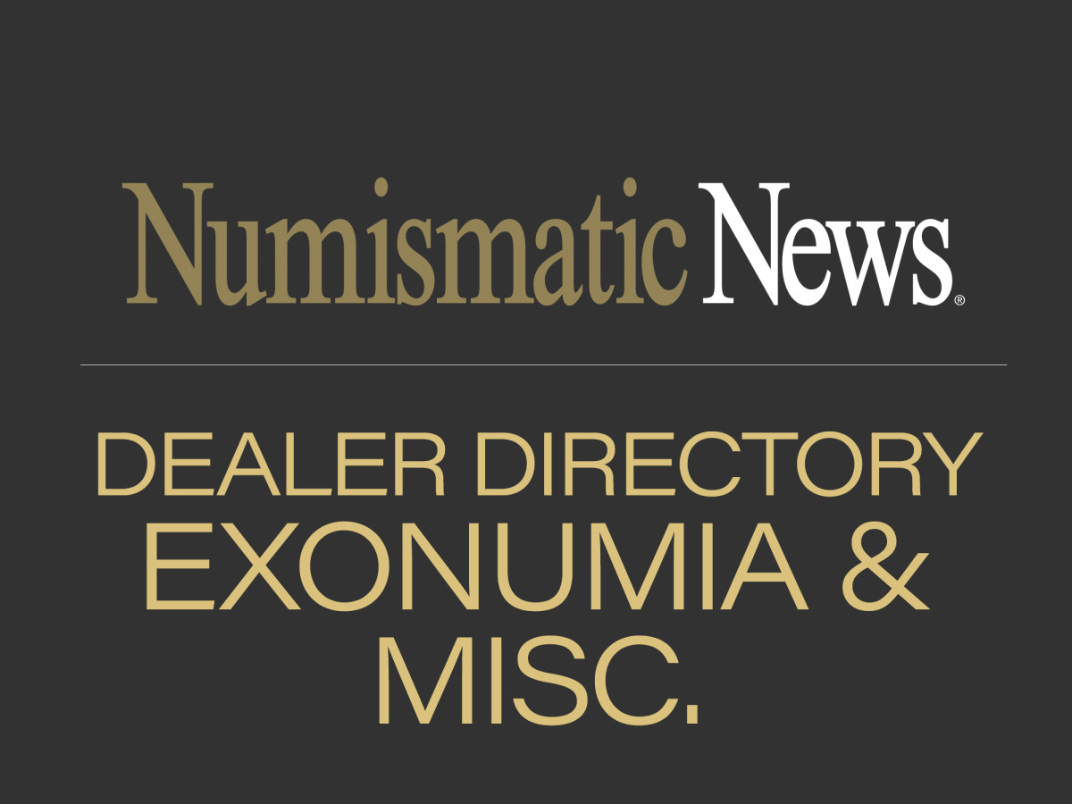 dealer directory - exonumia and miscellaneous
