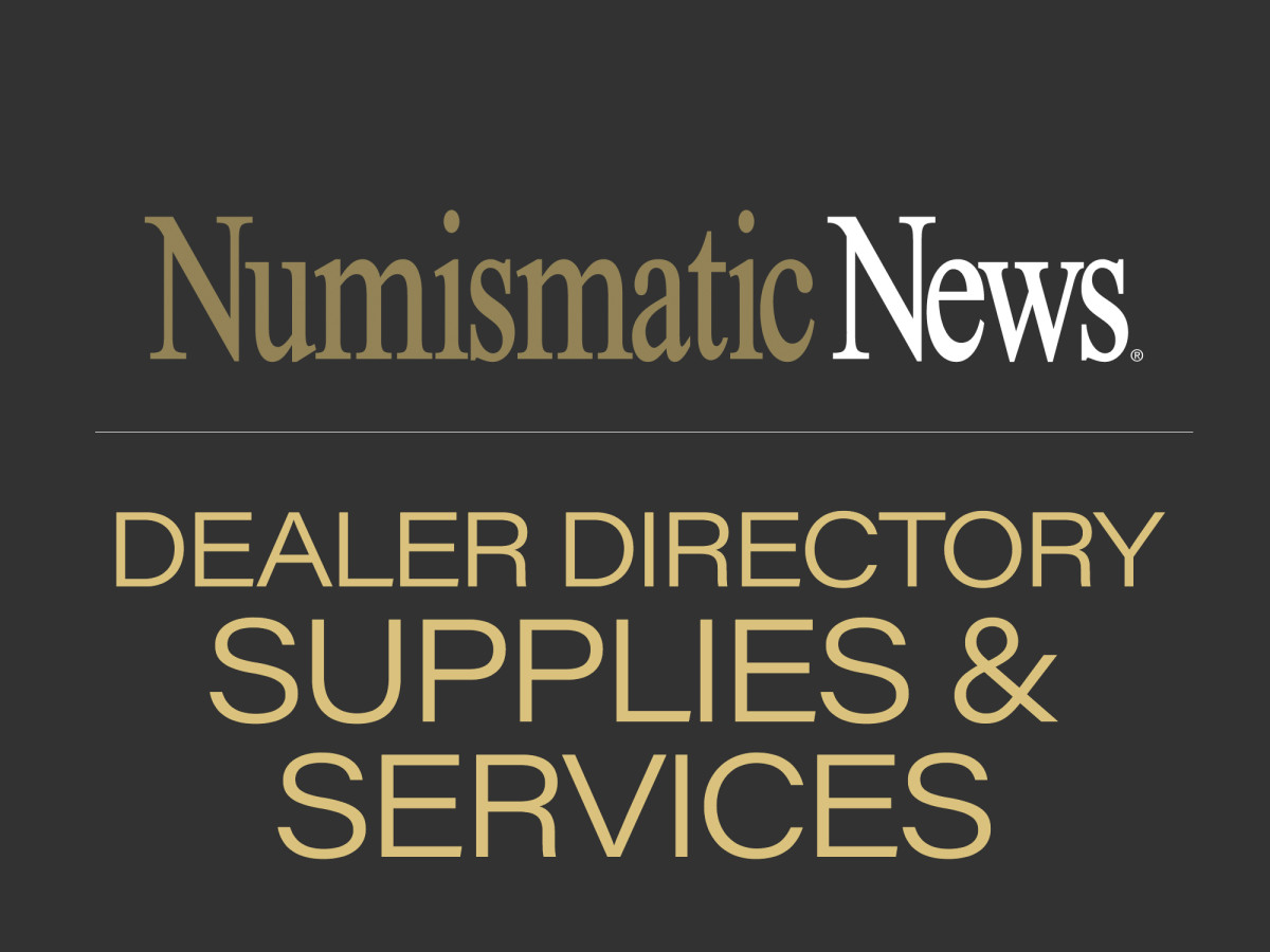 dealer directory - numismatic supplies & services