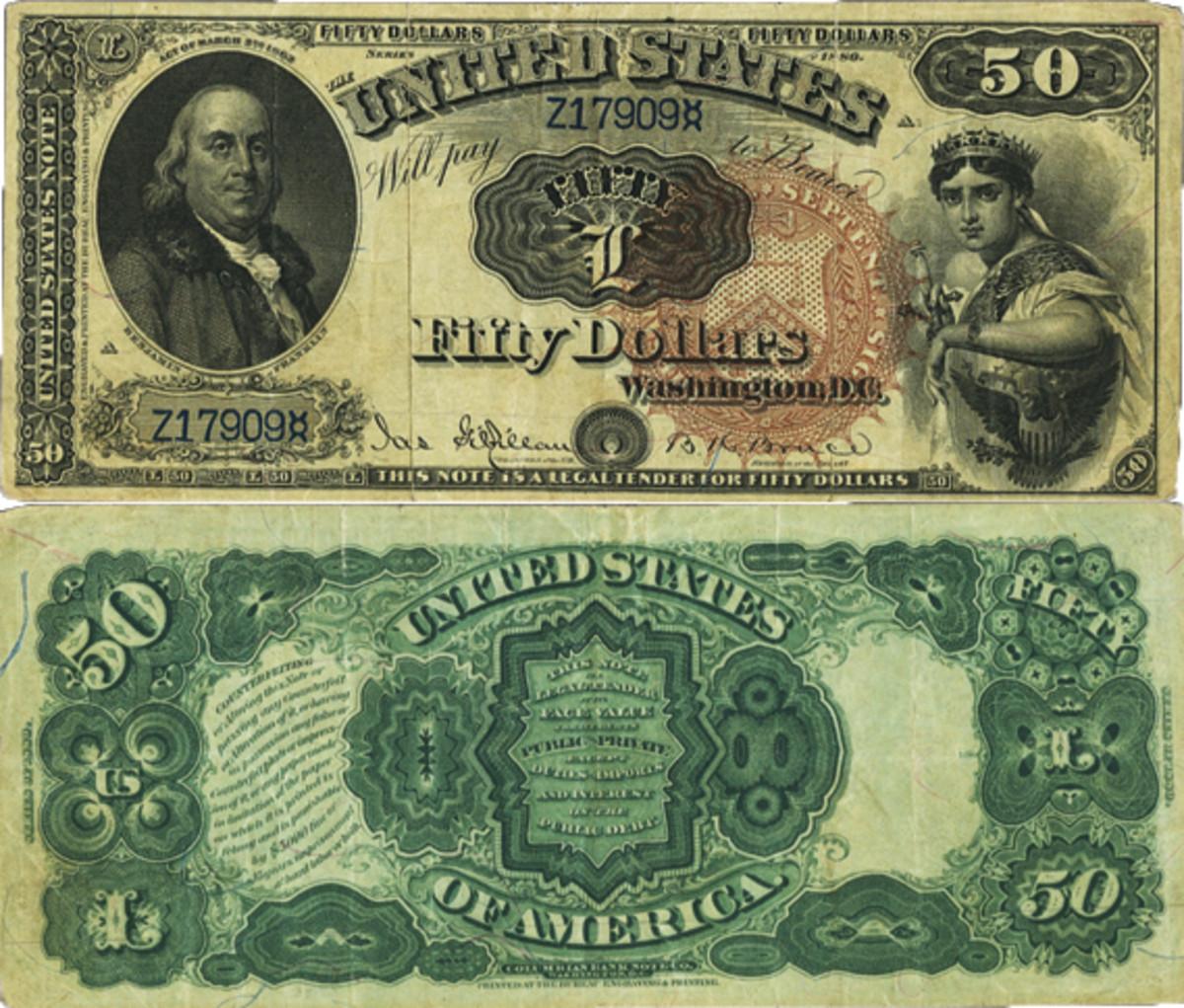 1880 $50 Legal Tender Note