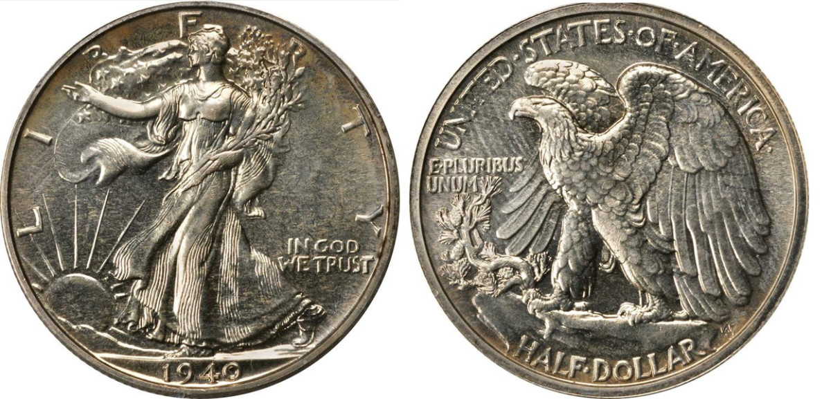 This 1940 Walking Liberty Half Dollar sold for $360 at auction. (Images courtesy of Stacks-Bowers)