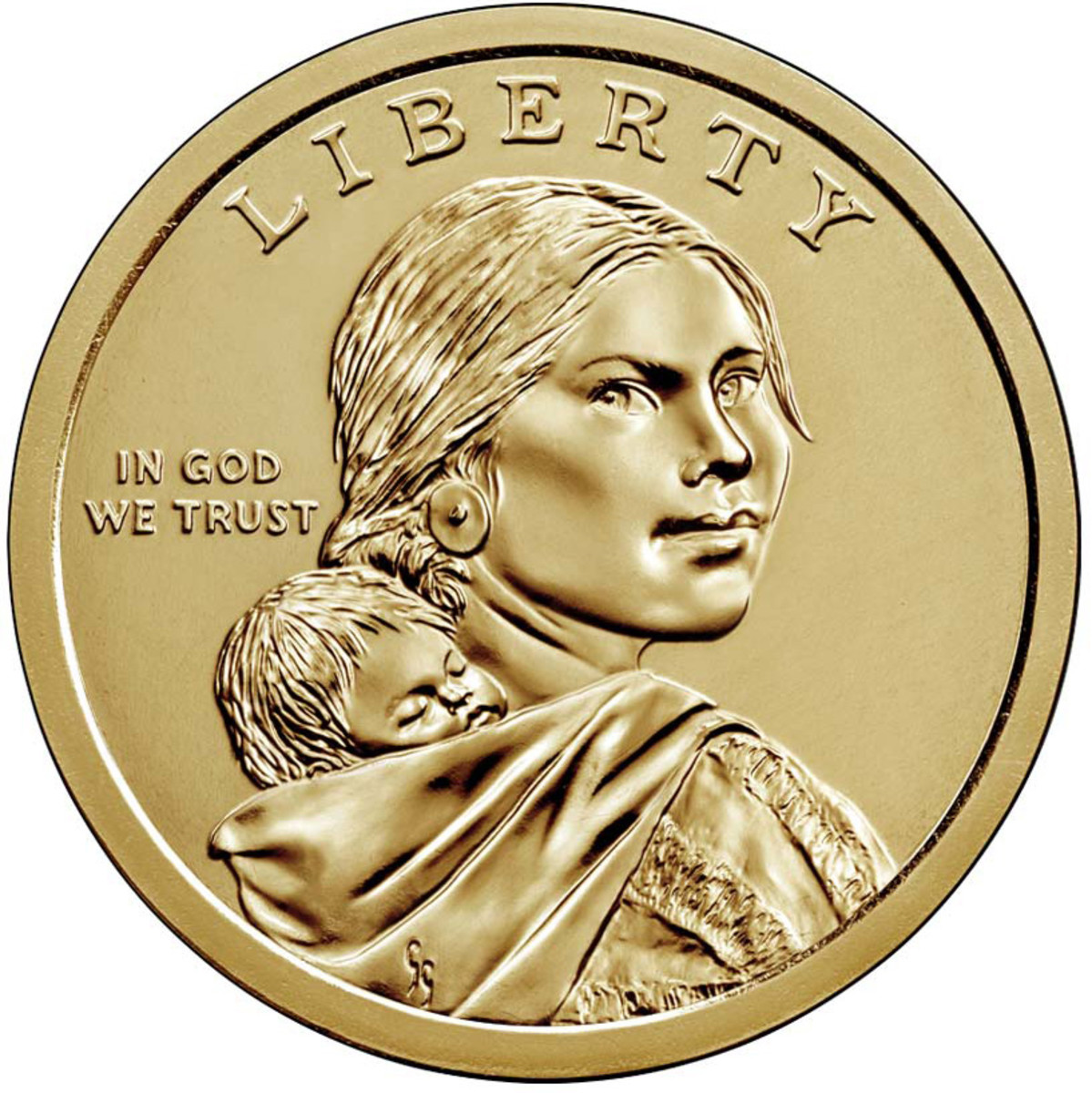 Common obverse of the Native American dollar. (Image courtesy U.S. Mint.)