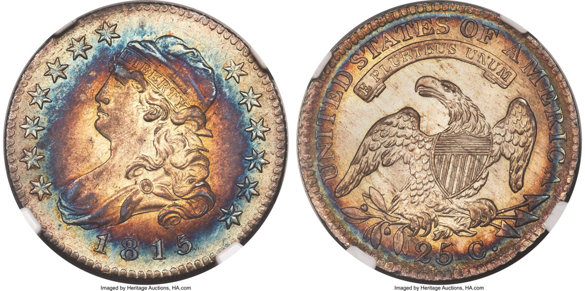 An 1815 quarter changed hands for $198,000.