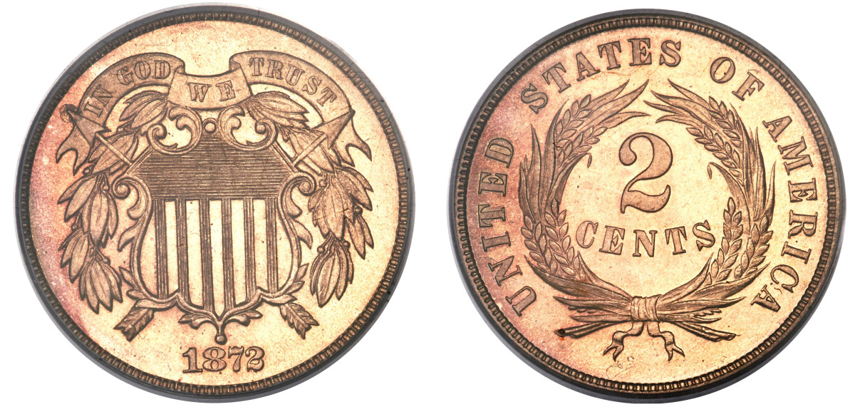 1872 was the last date struck for circulation. (Images courtesy of Heritage Auctions www.ha.com)