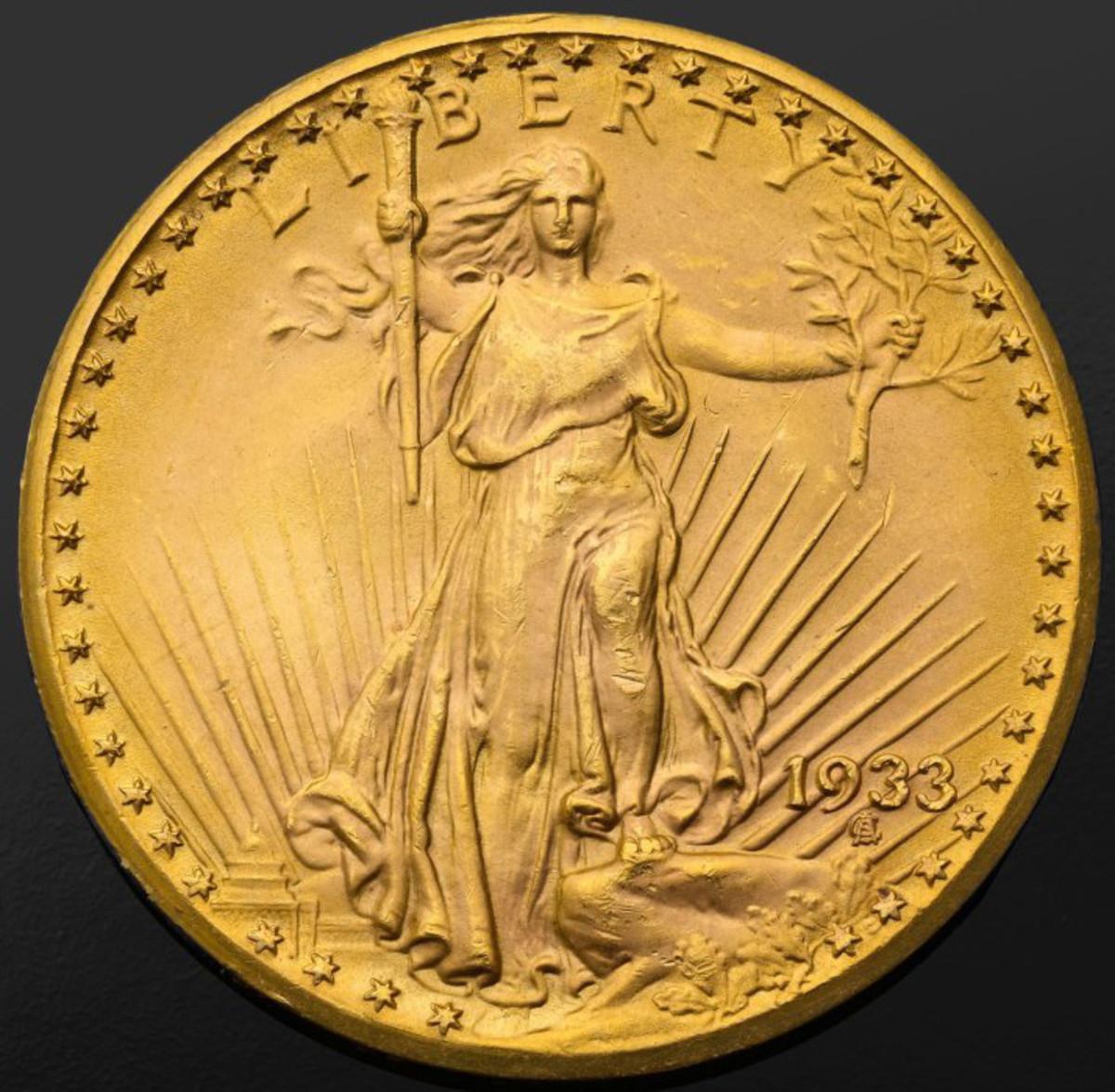 Farouk specimen 1933 $20 double eagle. (Image courtesy Sotheby's.)