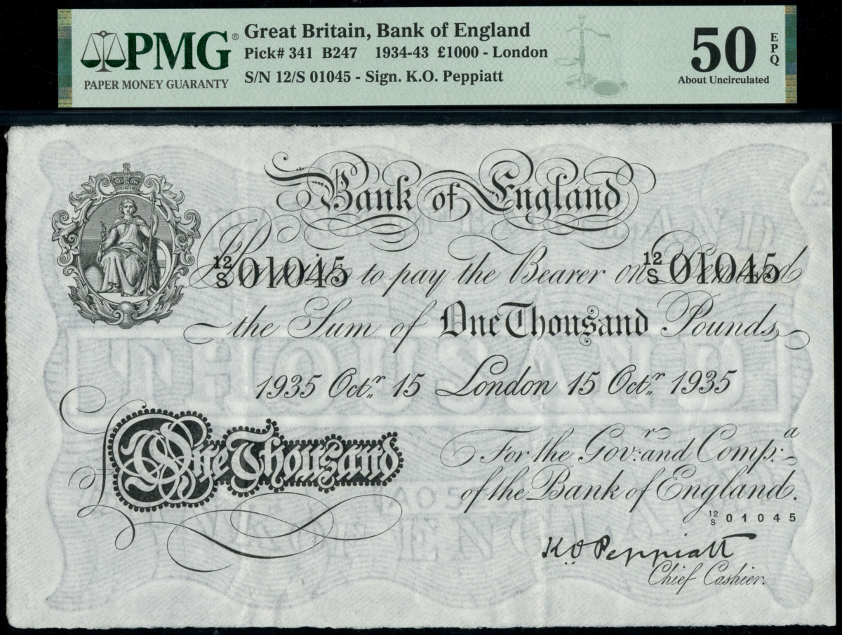 1935 Bank of England note.