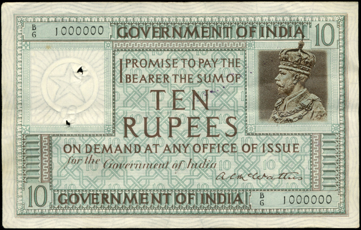 1923 Indian note.