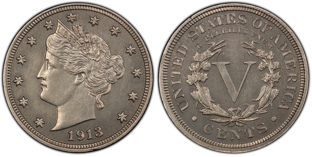 Graded PCGS PR-66, the 1913 Liberty nickel is the finest-known specimen.