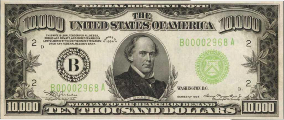 1934 $10,000 New York Federal Reserve Note