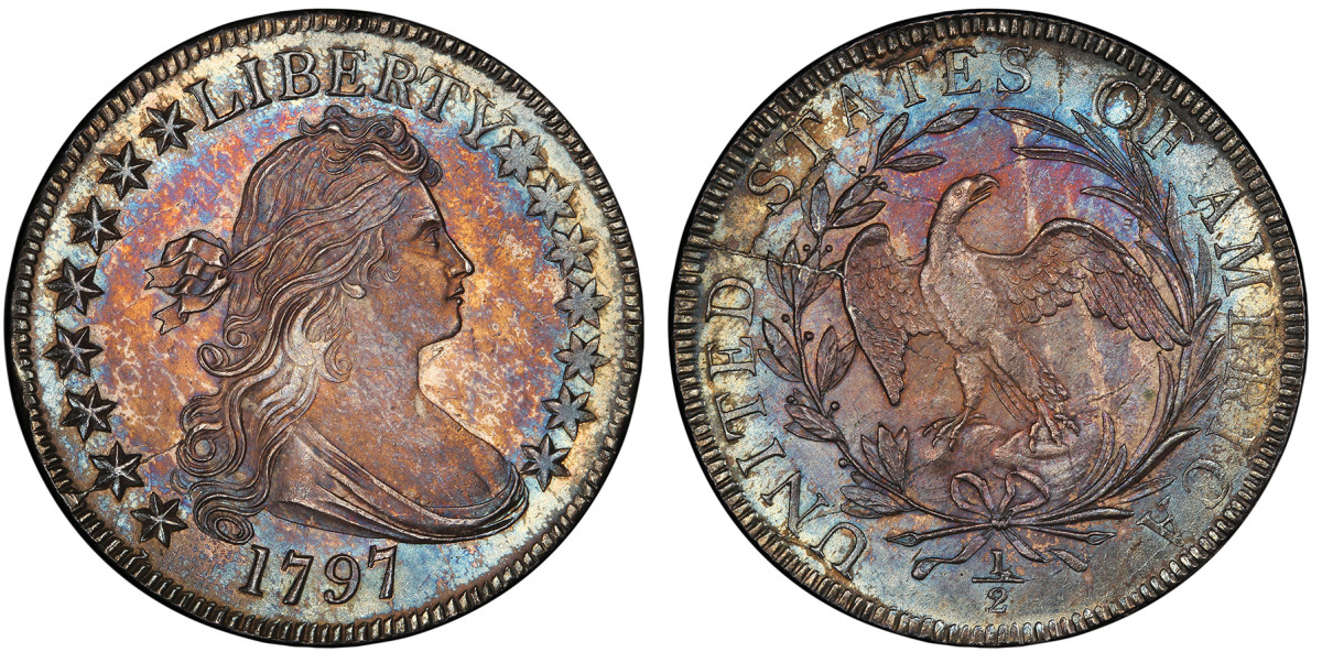 The Pogue Collection 1797 Draped Bust half dollar sailed past the million-dollar mark when it sold for $1.68 million during a Stack's Bowers Galleries auction held March 25.