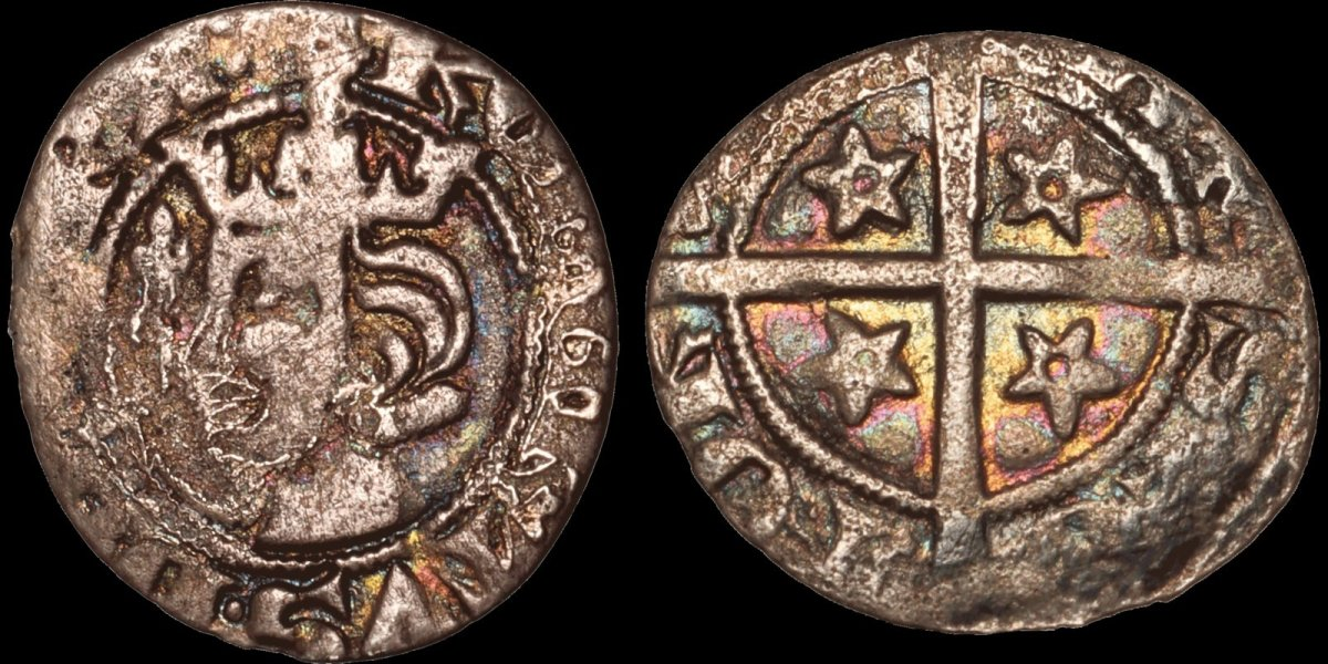 This silver penny of the seminal Scottish figure, Robert Bruce, is a very nice example of a rare and sought after Scottish issue. A present it is bid up to $525, but Davissons Ltd. has a no buyer's fee policy.