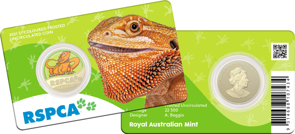 Each coin comes in a coin card with a picture of the animal and information about the coin.