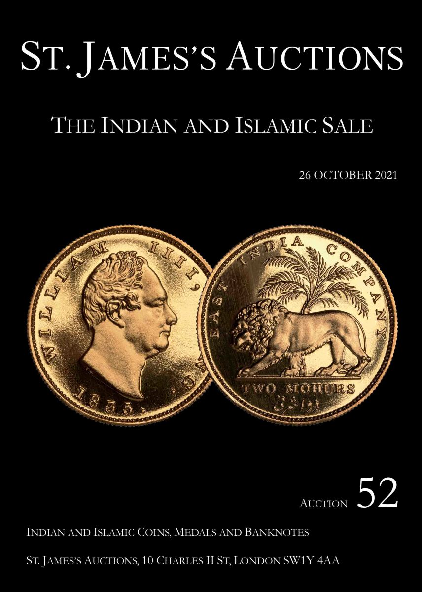 Coming October 26 from St. James Auctions is an expansive offering of Islamic and British Indian rarities. Auction 52 will also feature an extensive library of references on Islamic history and coinage.
