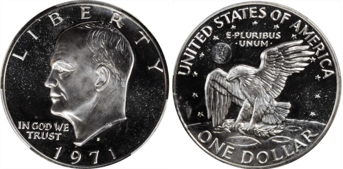 1971 Silver-Clad Eisenhower dollar